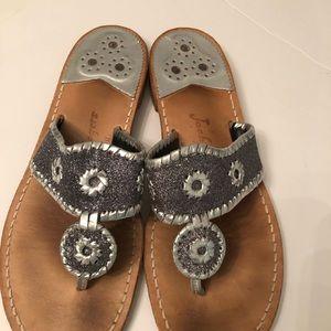 Jack Rogers sandals size 11 glitter design silver